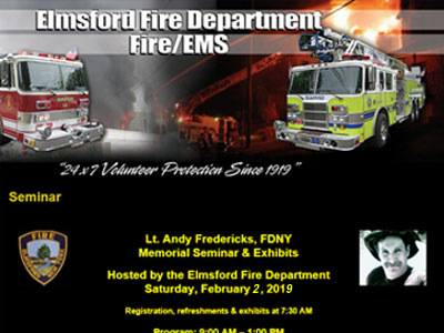 Lt. Andy Fredericks, FDNY Memorial Seminar & Exibits